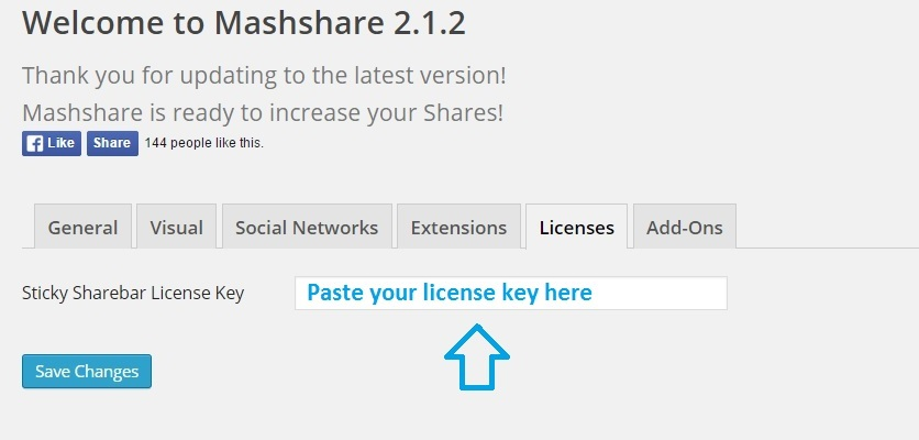 How to activate mashshare add-ons with license keys